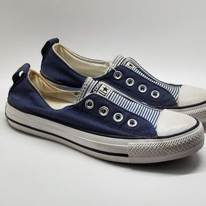 Converse All Stars blue stripped Canvas Size 6